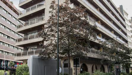 Fachada edificio oficinas y viviendas Marceliano Isabal 2, Zaragoza